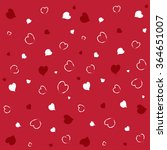 vector hearts on red background | Shutterstock .eps vector #364651007