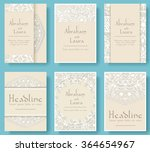 set of wedding flyer pages... | Shutterstock .eps vector #364654967