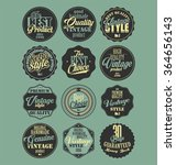 premium quality retro badges... | Shutterstock .eps vector #364656143