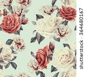 seamless floral pattern with... | Shutterstock . vector #364680167