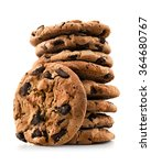 chocolate chip cookies isolated ... | Shutterstock . vector #364680767