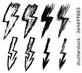 set of black grungy lightnings | Shutterstock .eps vector #364699883