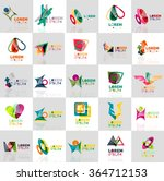 collection of colorful abstract ... | Shutterstock .eps vector #364712153