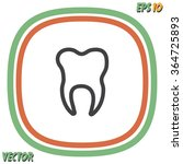 tooth vector icon | Shutterstock .eps vector #364725893
