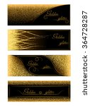 vector banners and cards gold... | Shutterstock .eps vector #364728287