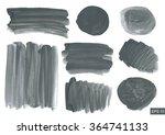 vector watercolor texture set.... | Shutterstock .eps vector #364741133