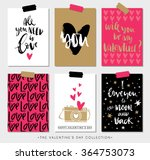 valentines day gift tags and... | Shutterstock .eps vector #364753073