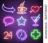 Neon Symbols And Elements
