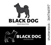 vector dog logo. a logo of... | Shutterstock .eps vector #364766597
