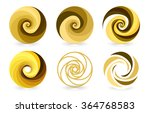 set of abstract vector yellow... | Shutterstock .eps vector #364768583