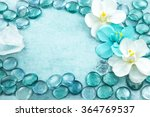 macro view of blue glass drops... | Shutterstock . vector #364769537