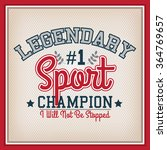 retro sport champion badge.... | Shutterstock .eps vector #364769657