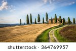 Tuscan Landscape With Farmhous...
