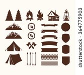camp icons | Shutterstock .eps vector #364775903