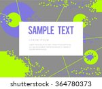 abstract geometric circles and... | Shutterstock .eps vector #364780373