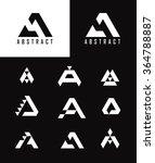 letter a logo icon design... | Shutterstock .eps vector #364788887