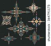 vector tribal ethnic ornament.... | Shutterstock .eps vector #364791173