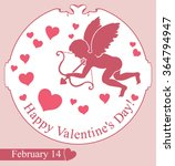 card happy valentine's day.... | Shutterstock .eps vector #364794947