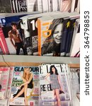 Small photo of Cologne,Germany- September 4,2013: Popular british magazines in english language on display in a storein Cologne,Germany