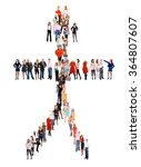 clerks compilation man concept  | Shutterstock . vector #364807607