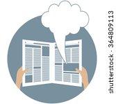advertising in the newspaper... | Shutterstock .eps vector #364809113