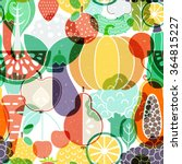 seamless vector background with ... | Shutterstock .eps vector #364815227