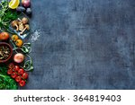 raw organic vegetables with... | Shutterstock . vector #364819403