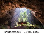 A Pavilion Inside Cave With...