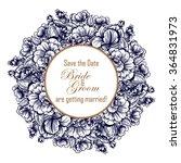 vintage delicate invitation... | Shutterstock .eps vector #364831973