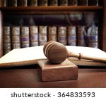 the gavel of a judge in court | Shutterstock . vector #364833593