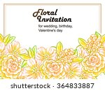 romantic invitation. wedding ... | Shutterstock .eps vector #364833887