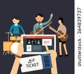 buy music concert ticket online ... | Shutterstock .eps vector #364839737
