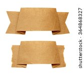 two craft paper ribbon isolated ... | Shutterstock . vector #364868327