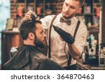 new hairstyle. side view of... | Shutterstock . vector #364870463