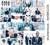 business collage. collage of... | Shutterstock . vector #364881233