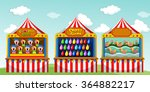 three game boothes at the... | Shutterstock .eps vector #364882217