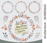vector illustration of a floral ... | Shutterstock .eps vector #364883663