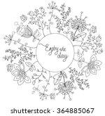 a beautiful pattern of black... | Shutterstock .eps vector #364885067