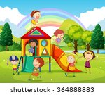 children playing at the... | Shutterstock .eps vector #364888883