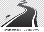 winding road with white lines... | Shutterstock .eps vector #364889993