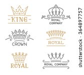 crown logo set. luxury signs in ... | Shutterstock .eps vector #364897757