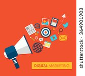 digital marketing concept with... | Shutterstock .eps vector #364901903