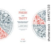 pizza design template. vector... | Shutterstock .eps vector #364927133