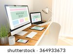 digital generated devices over...   Shutterstock . vector #364933673