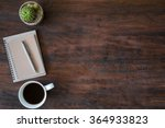 hipster vintage office desk... | Shutterstock . vector #364933823