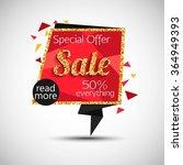 super sale banner. banner... | Shutterstock .eps vector #364949393