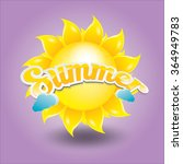 beautiful summer illustrations .... | Shutterstock .eps vector #364949783
