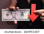 us dollar with a red arrow to... | Shutterstock . vector #364951307