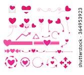 wedding graphic set vector | Shutterstock .eps vector #364953923