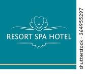 vector logo of the resort hotel ... | Shutterstock .eps vector #364955297